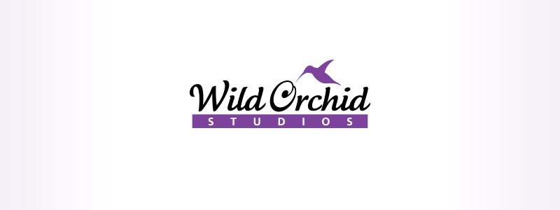 Logo design produced for a Urbandale hair style workshop featuring a manuscript font a hummingbird as well as a suggested orchid for the letter O.