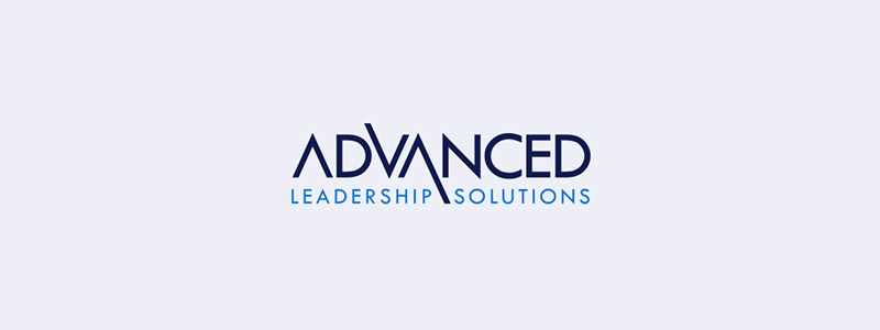 logo style done for Advanced Leadership Solutions in Urbandale, the personalities for letter V and also A in middle of words progressed have actually been modified to connect directly right into words below.