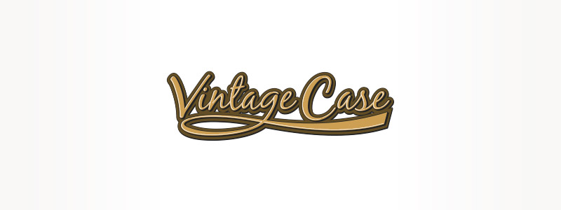 Urbandale logo style made use of for advertising and marketing and also a tag style for Vintage Case includes an antiquated typeface layout.