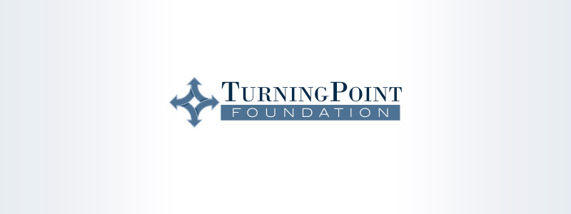 Urbandale Logo design for a nonprofit, Turning Point Solutions - the logo layout attribute for outwardly dealing with arrowhead and also the arrowheads indicate that it is a diamond form.